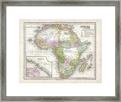 Map Of Africa Framed Print by Library Of Congress, Geography And Map Division