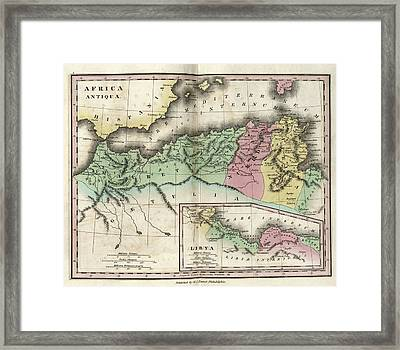 Map Of Ancient North Africa Framed Print by Library Of Congress, Geography And Map Division