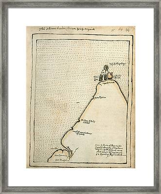 Map Of Cape Fortunate Framed Print by British Library