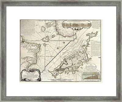 Map Of Fernando De Noronha Framed Print by Library Of Congress, Geography And Map Division