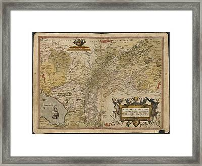 Map Of Gelderland And Cleves Framed Print by British Library