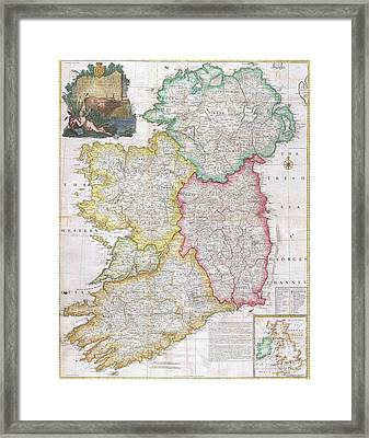 Map Of Ireland  1794 Framed Print by Pg Reproductions