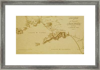 Map Of Naples 1819 Framed Print by Andrew Fare