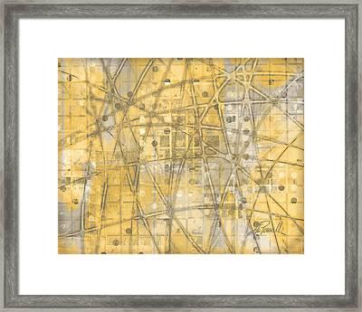 Map Of Secrets  Framed Print by Ann Powell