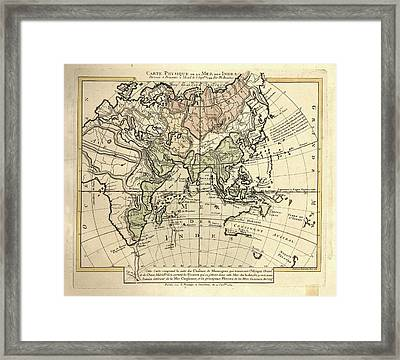 Map Of The Indian Ocean Framed Print by Library Of Congress, Geography And Map Division