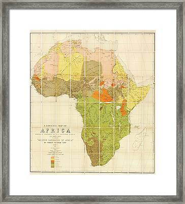 Map Of The Languages Of Africa Framed Print by Library Of Congress, Geography And Map Division