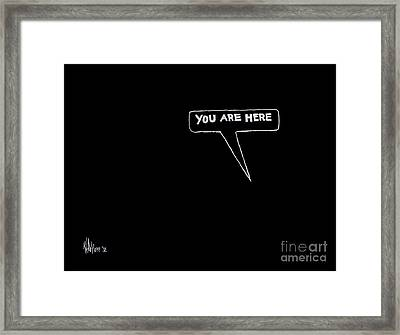 Map Of The Universe Framed Print by Kip DeVore