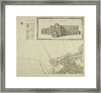 Map Of Westminster In The City Of London Framed Print by British Library