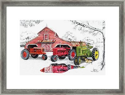 Maple Grove Farms Framed Print by Larry Johnson