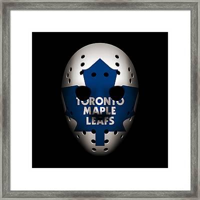 Maple Leafs Goalie Mask Framed Print by Joe Hamilton