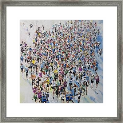 Marathon By Neil Mcbride Framed Print by Neil McBride