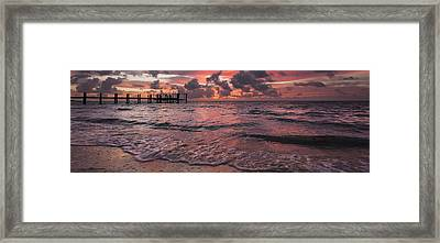 Marathon Key Sunrise Panoramic Framed Print by Adam Romanowicz
