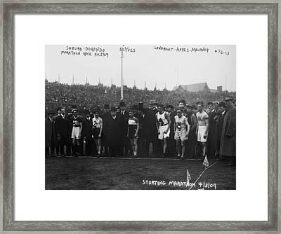 Marathon Race, 1909 Framed Print by Granger
