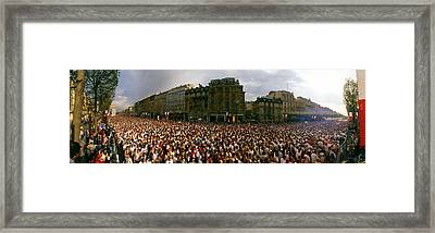 Marathon Runners, Paris, France Framed Print by Panoramic Images