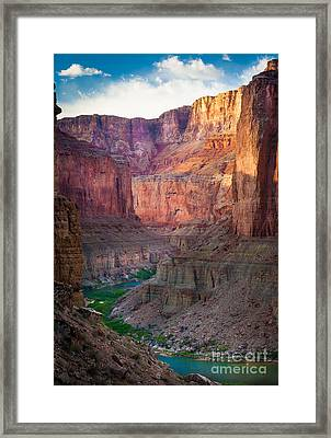 Marble Cliffs Framed Print by Inge Johnsson