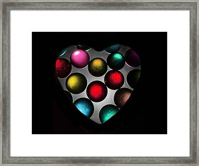 Marble Heart Framed Print by Marianna Mills