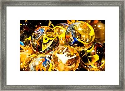 Marble Mania  Framed Print by Colleen Kammerer