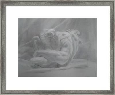 Marble Westlers Framed Print by Paez  ANTONIO