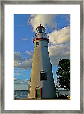 Marblehead Lighthouse Framed Print by Dan Sproul
