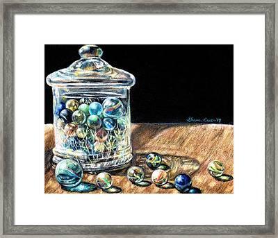 Marbleous Memories Framed Print by Shana Rowe Jackson