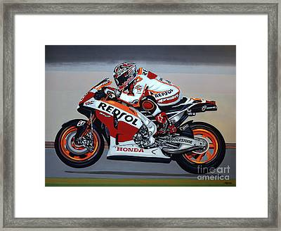 Marc Marquez Framed Print by Paul Meijering