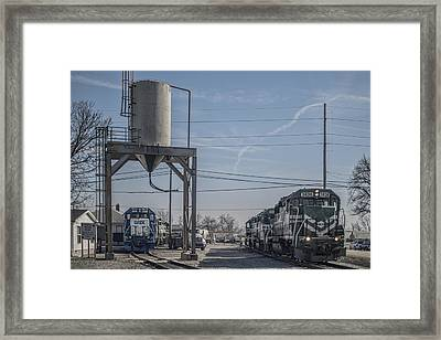March 11. 2015 - Evansville Western Railway Engine 3836 Framed Print by Jim Pearson