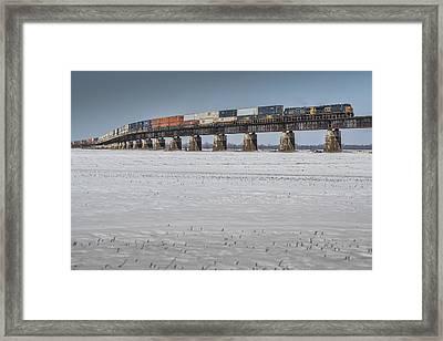 March 7. 2015 - Csx Q029 At Rahm Indiana Framed Print by Jim Pearson