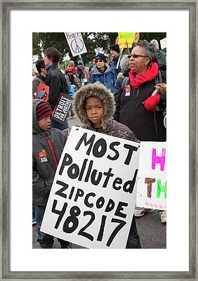 March For Justice Protest Framed Print by Jim West