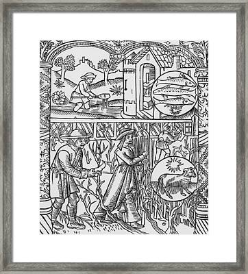 March  Pisces Framed Print by Pierre Le Rouge