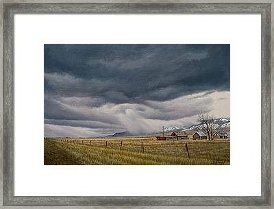 March Sky-montana Framed Print by Paul Krapf