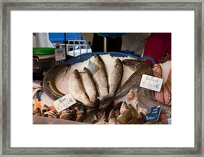 Marche Aux Poissons Framed Print by Art Ferrier