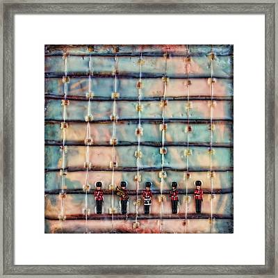 Marching Band Encaustic Framed Print by Bellesouth Studio