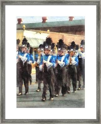Marching Band Framed Print by Susan Savad