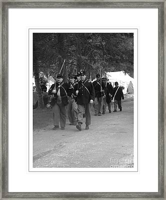 Marching Off To Battle Framed Print by Sara  Raber