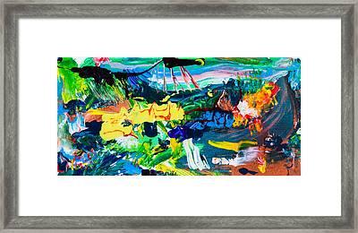Marcian Annex Landscape  Framed Print by Maria  Lankina