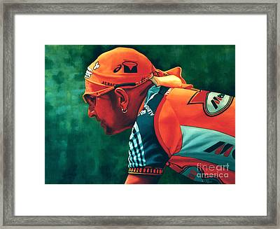 Marco Pantani The Pirate Framed Print by Paul Meijering