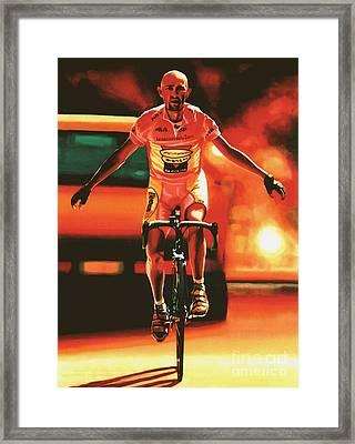 Marco Pantani Framed Print by Paul Meijering