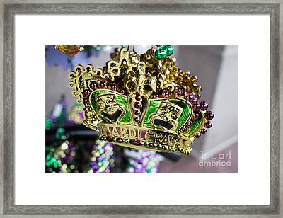 Mardi Gras Beads Framed Print by Edward Fielding