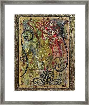 Mardi Gras Framed Print by Bellesouth Studio