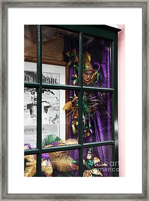 Mardi Gras Colors Framed Print by John Rizzuto