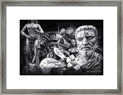 Mardi Gras Float Factory Framed Print by Gregory Dyer