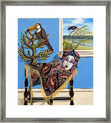 Mardi Gras In The Living Room Framed Print by Susan Culver