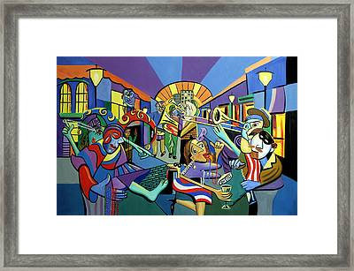 Mardi Gras Lets Get The Party Started Framed Print by Anthony Falbo