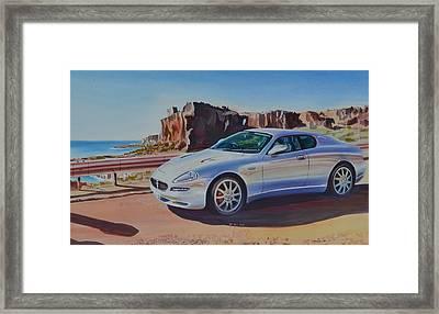 Maserati In Erice Framed Print by Marco Ippaso