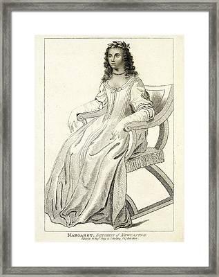 Margaret Cavendish Framed Print by British Library