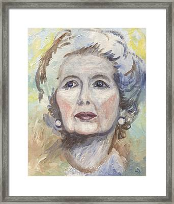 Margaret Thatcher One Framed Print by Linda Mears