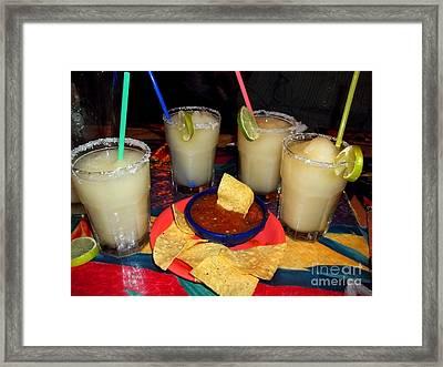 Margarita Time Framed Print by Nancy Mueller