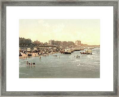 Margate Beach Framed Print by Library Of Congress