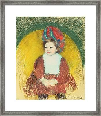 Margot Framed Print by Mary Stevenson Cassatt