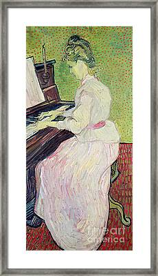 Marguerite Gachet At The Piano Framed Print by Vincent Van Gogh